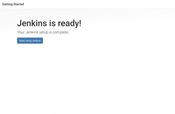 Jenkins가 준비 화면입니다.